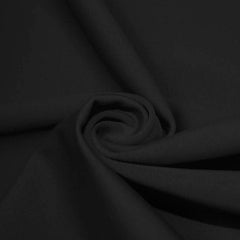 A swirled piece of microfiber nylon spandex in black.