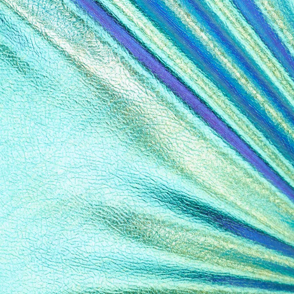 Morpho Iridescent Foiled Spandex