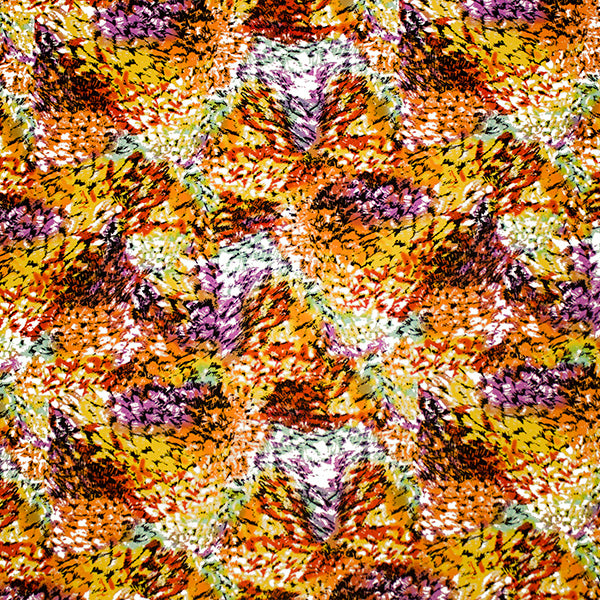 Autumn Colors Printed Spandex
