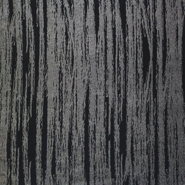 A flat sample of Textured Grunge Stripe Printed Spandex.
