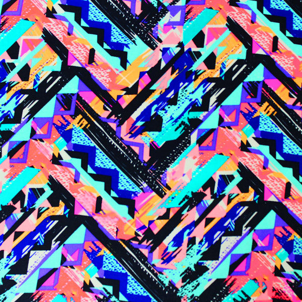 Chevron Tribal Printed Spandex