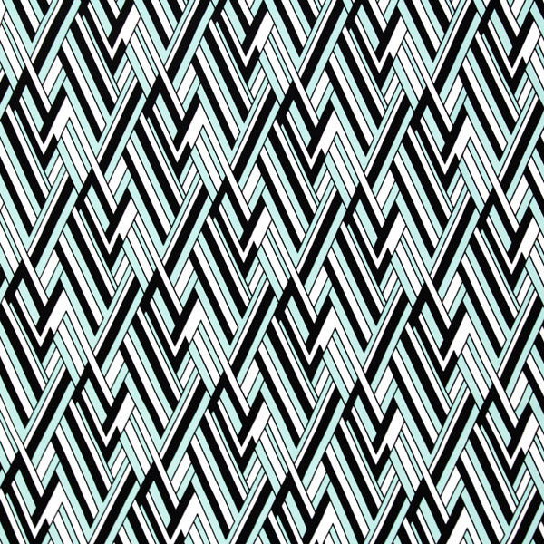 A flat sample of Jagged Edge Optical Illusion Printed Spandex.