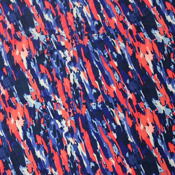 A flat sample of Paint Splatter Printed Spandex.