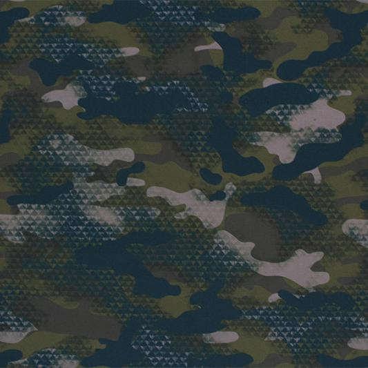 Distressed Olive Camo Printed Spandex