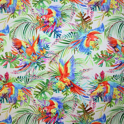 Tropical Parrot Printed Spandex