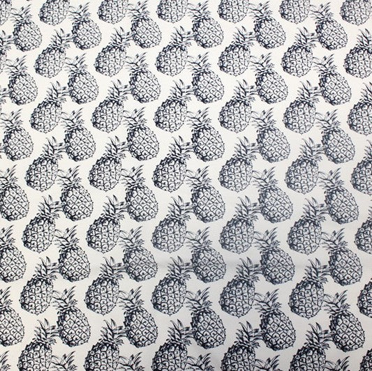 A flat sample of Classic Pineapple Printed Spandex.