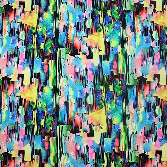 Abstract Rainbow Printed Spandex