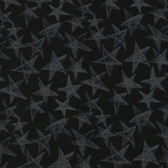 A flat sample of night stars printed spandex.