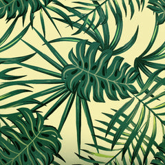 Palm Fronds and Monstera Printed Spandex