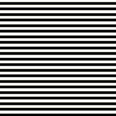 A flat sample of Striped Printed Spandex with quarter inch black and white stripes.