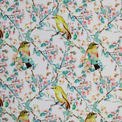 A flat sample of Birds In Pastel Printed Spandex.