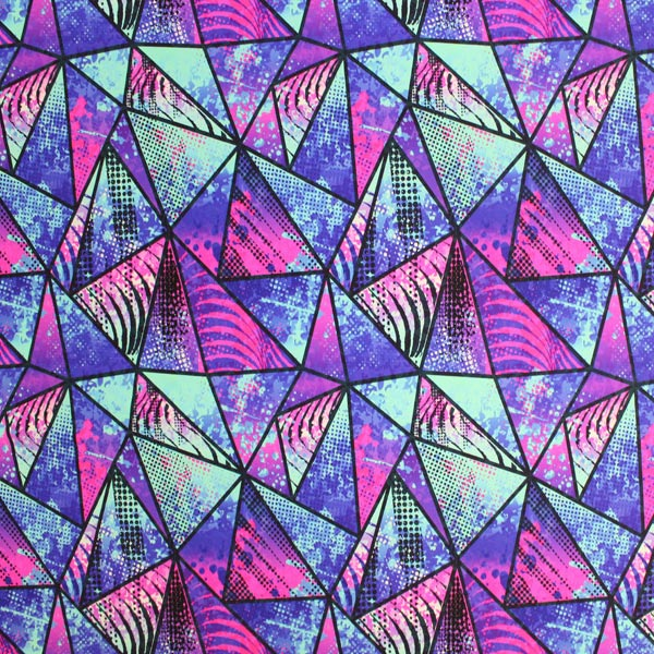 Geometric Watercolor Printed Spandex