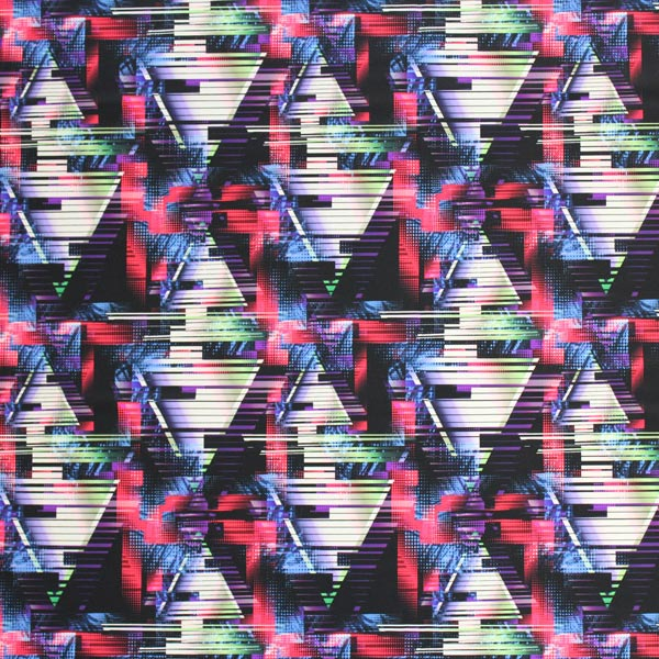 A flat sample of Digitized Argyle Printed Spandex.