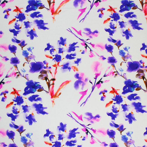 A flat sample of Flower Bunches Printed Spandex.