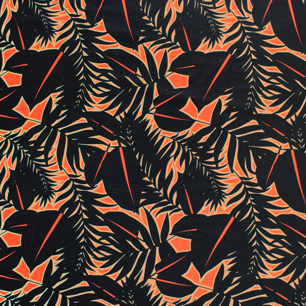 Cat Palms Printed Spandex
