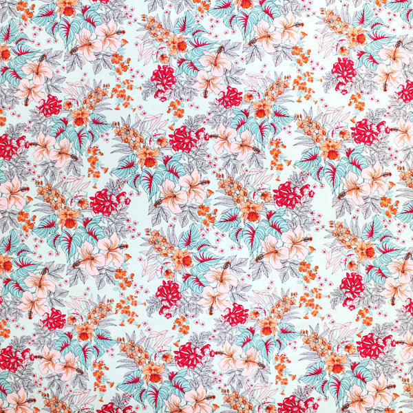 Unfinished Flowers Printed Spandex