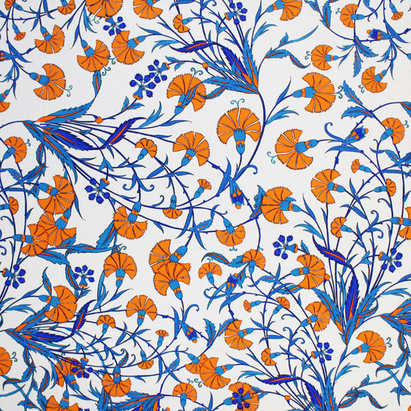 A flat sample of Chinese Flowers Printed Spandex.
