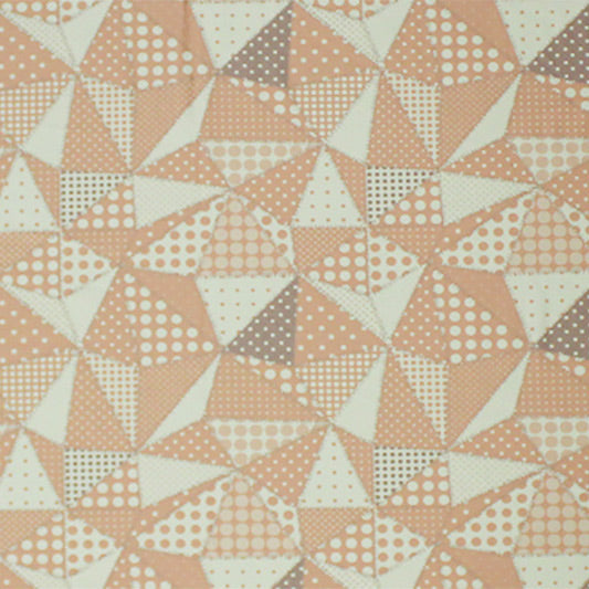 A flat sample of Swiss Dot Pyramids Printed Spandex.