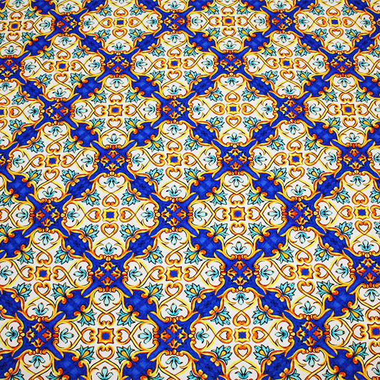 Royal Tiles Printed Spandex