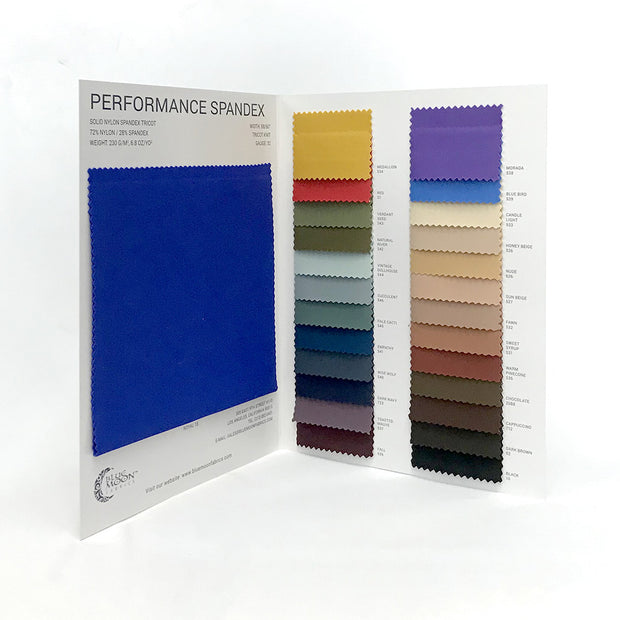 Performance Spandex Color Card