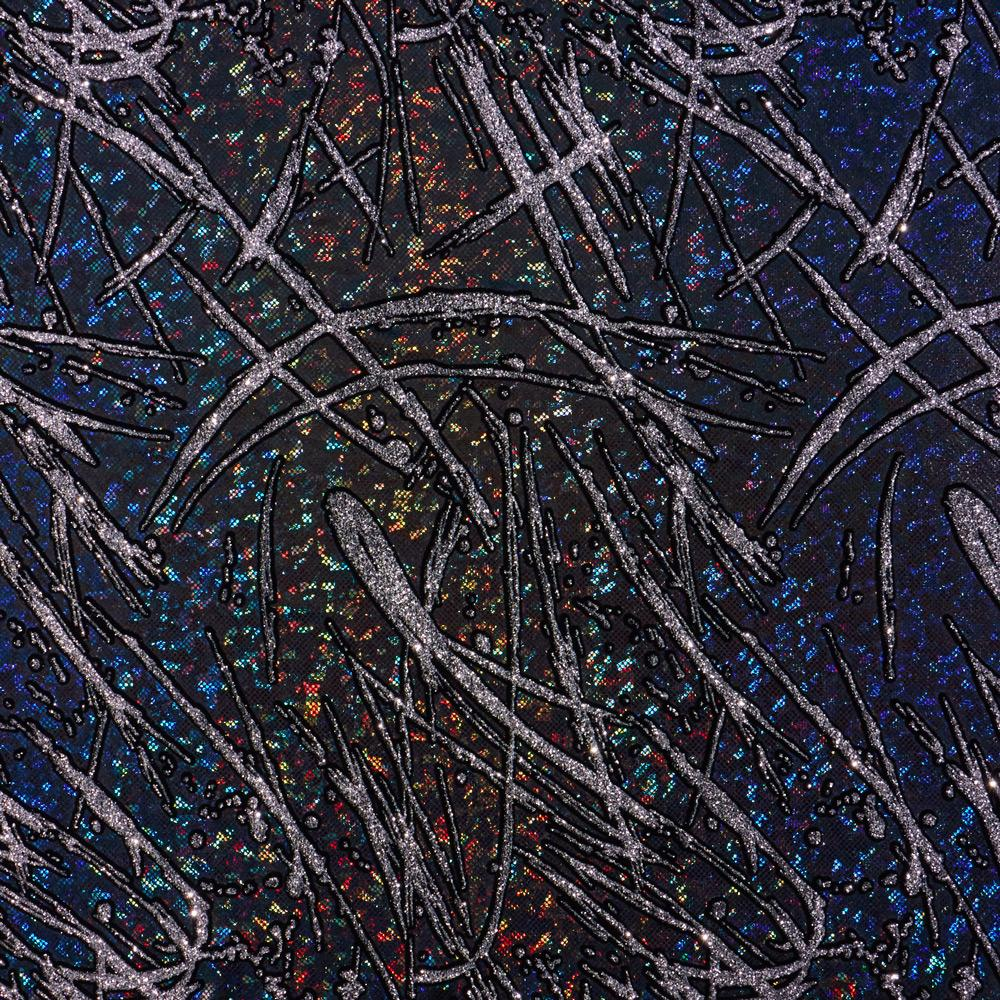 Pollock Shattered Glass Foiled Spandex
