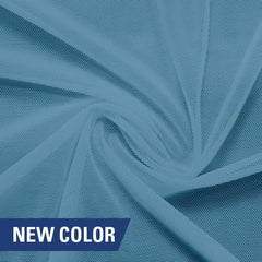 A swirled piece of nylon spandex power mesh in the color bouquet.