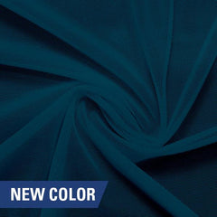 A swirled piece of nylon spandex power mesh in the color empathy.