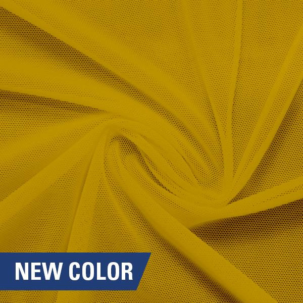 A swirled piece of nylon spandex power mesh in the color havana.