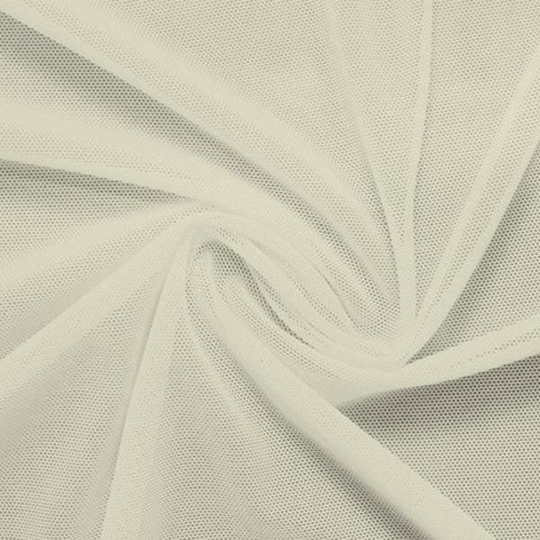 A swirled piece of nylon spandex power mesh in the color pearl.