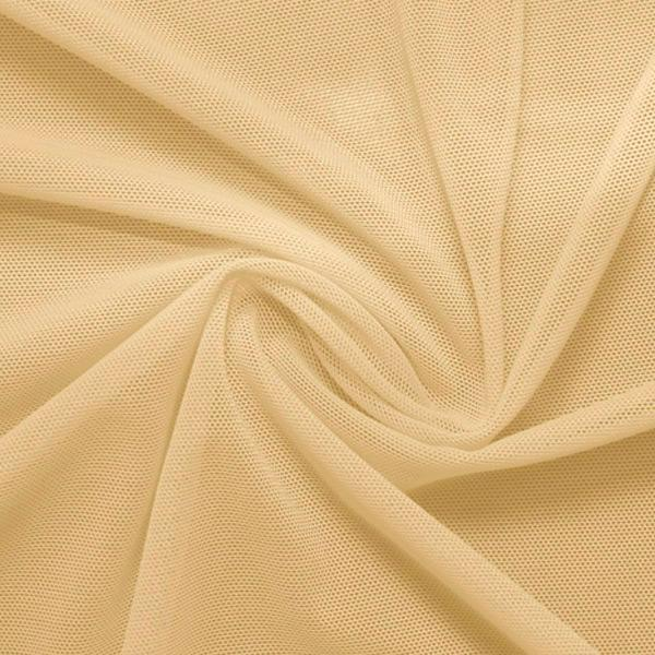 A swirled piece of nylon spandex power mesh in the color skin nude.
