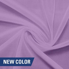 A swirled piece of nylon spandex power mesh in the color spring fairy.
