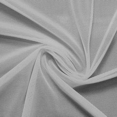 A swirled piece of nylon spandex power mesh in the color stone.