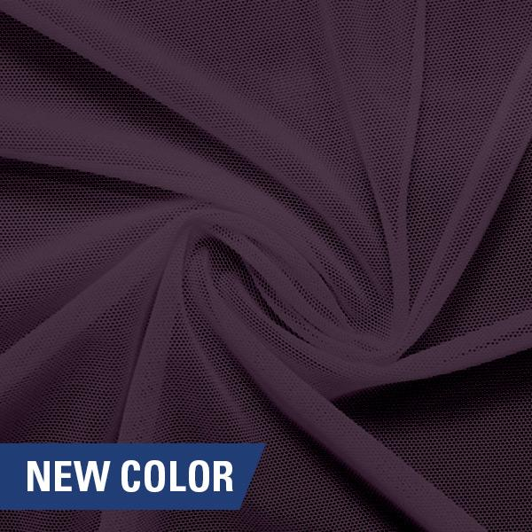 A swirled piece of nylon spandex power mesh in the color toasted mauve.