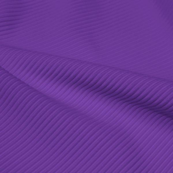 A rippled piece of Ribbed Spandex in the color drama queen.
