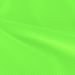 A rippled piece of Ribbed Spandex in the color electric lime.