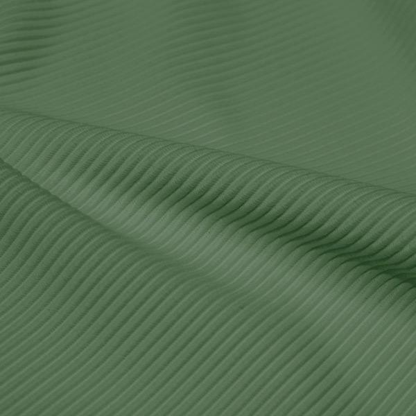 A rippled piece of Ribbed Spandex in the color sage.