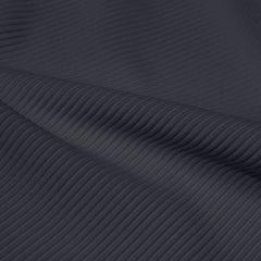 A rippled piece of Ribbed Spandex in the color slate gray.