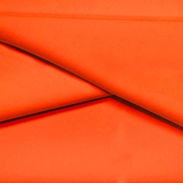 A folded piece of Ripple Recycled Polyester Spandex in the color orange.