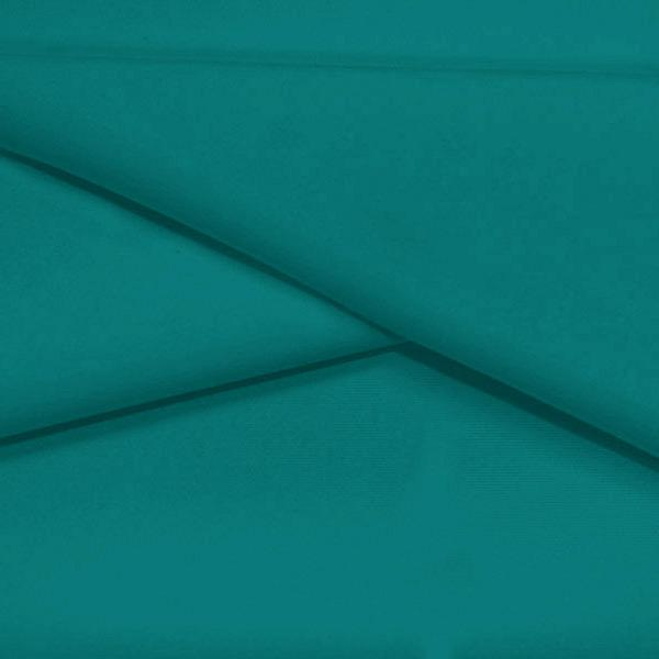 A folded piece of Ripple Recycled Polyester Spandex in the color teal green.
