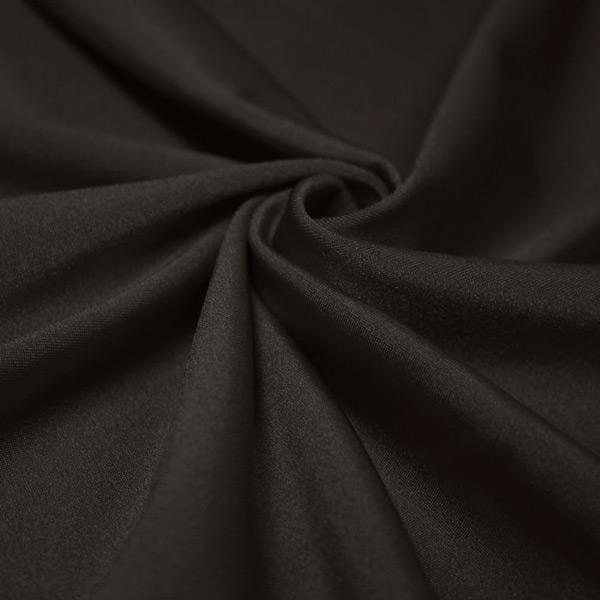 A swirled piece of shiny nylon spandex in charcoal.
