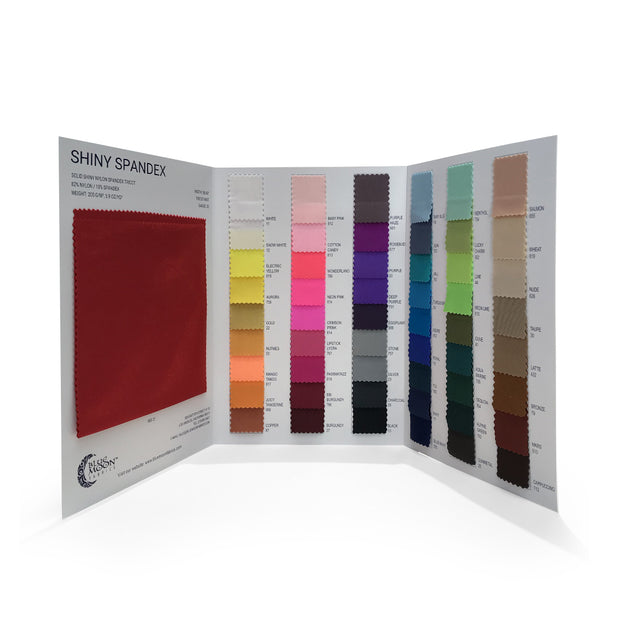 Shiny Nylon Spandex Color Card