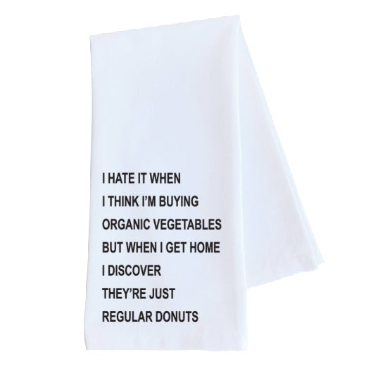 Organic Vegetables Tea Towel