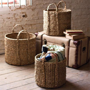 Seagrass Storage Baskets Set - The Red Hound Gifts