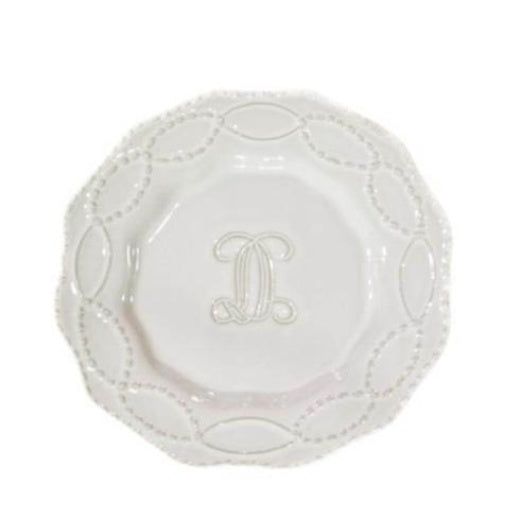 Legado Salad Plate H White - The Red Hound Gifts