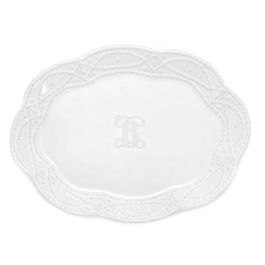 Legado Large Oval Platter H White - The Red Hound Gifts