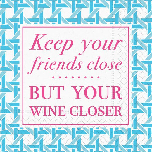 Keep Your Friends Close Cocktail Napkin