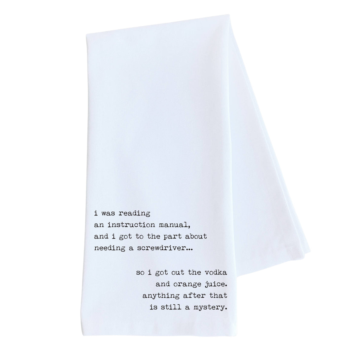 Instruction Manual Tea Towel