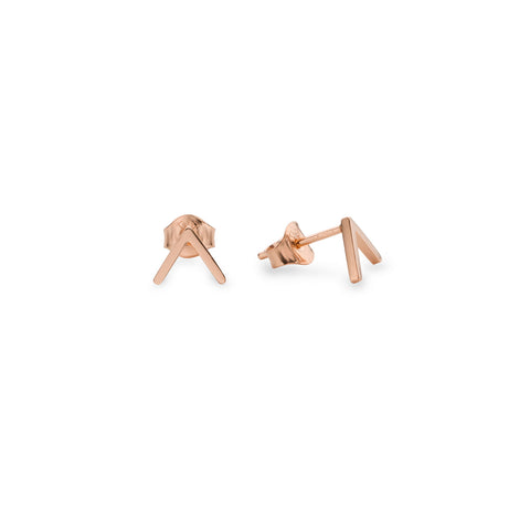CRE-1024-R Cleo Roze Triangle Rose Gold Earrings