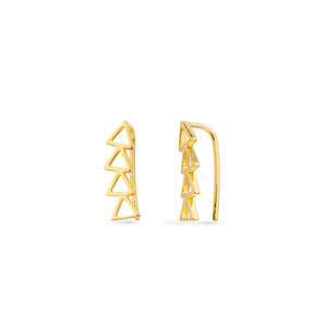 CRE-1023-Y Cleo Roze Climber Yellow Gold Earrings
