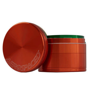 "AEROSPACED 4 PIECE 2.5"" ALUMINUM Herb Grinder - 12 Colors - BHANGO HEAD SHOP - Premium Glass, Vape and Cannabis Accessories"